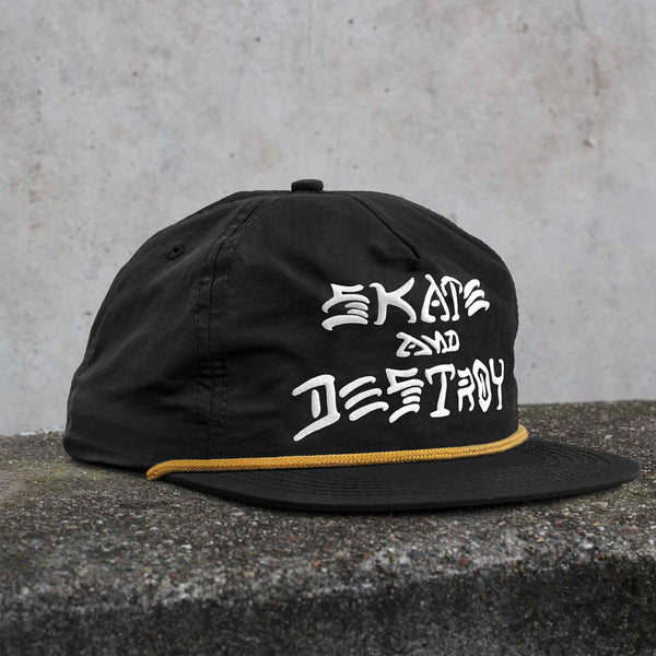 Thrasher - Skate & Destroy Puff Ink Snapback - Black