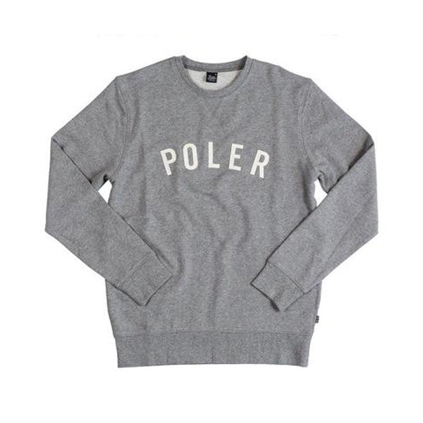 Poler - Ivy State Crewneck Sweater - Gray Heather