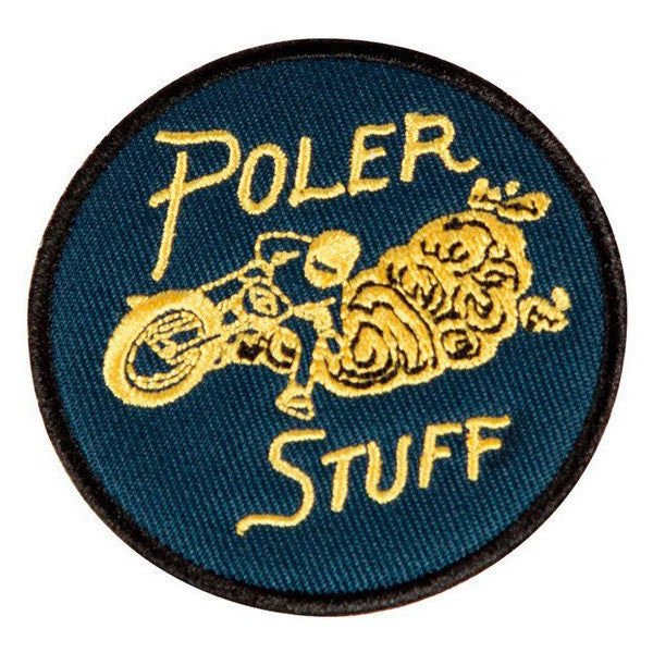 Poler - Moto 2 Iron On Patch - Navy