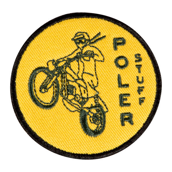 Poler - Moto 1 Iron On Patch - Gold