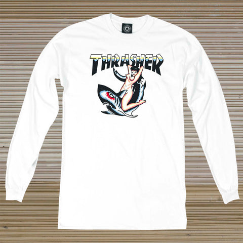 Thrasher - Tattoo L/S Tee - White