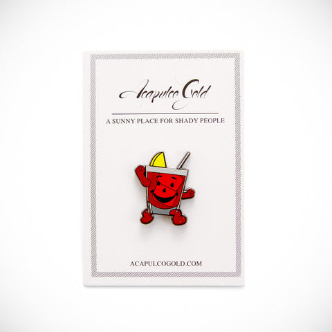 Acapulco Gold - AG x Pin Trill Drink Man Lapel Pin - Red