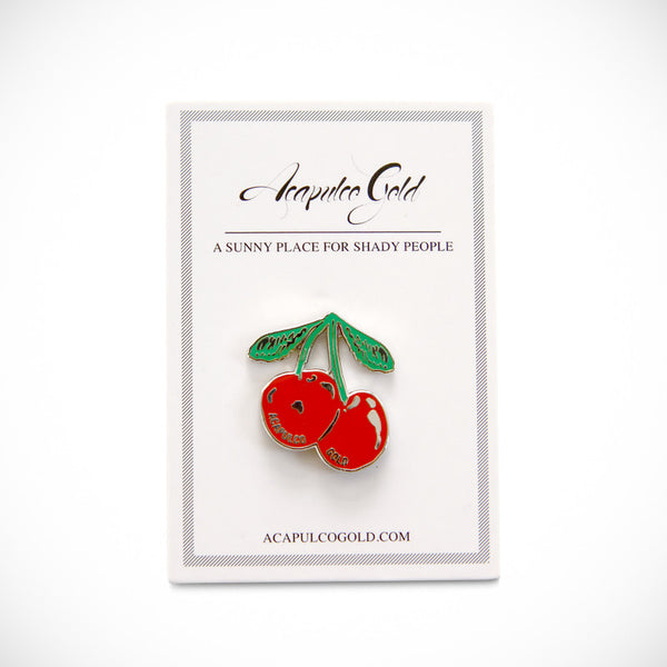 Acapulco Gold - AG x Pin Trill Cherry Lapel Pin - Red