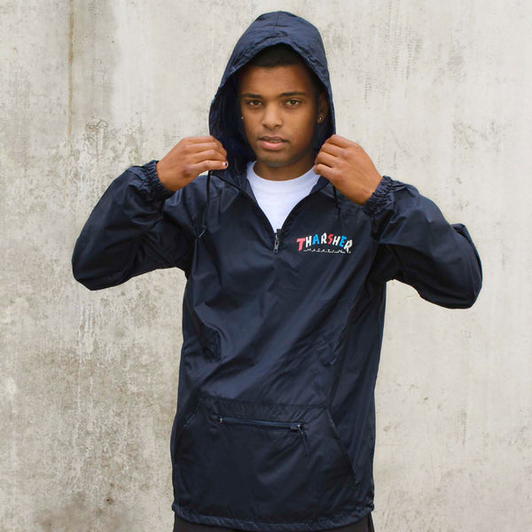 Thrasher - Knock-Off Pullover Anorak - Navy