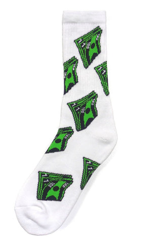 40s & Shorties - Bank Roll Socks - White