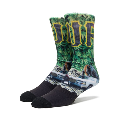 HUF - Big Cats Crew Sock - Green