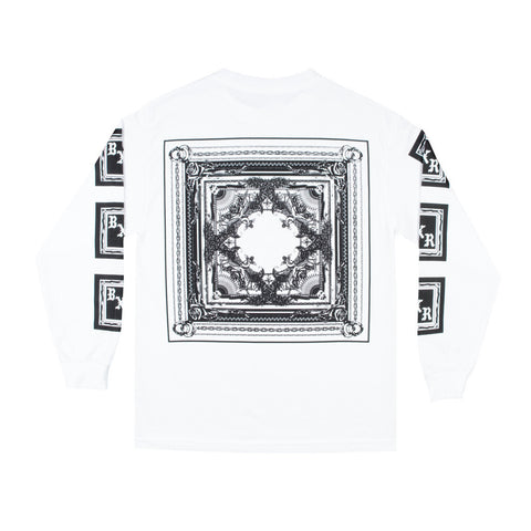 Born X Raised - BXR Flag L/S Tee - White