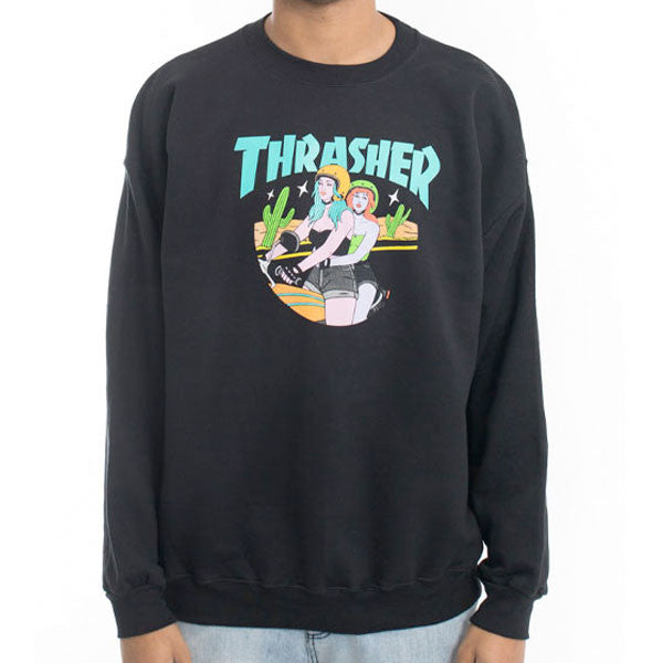 Thrasher - Babes Crewneck Sweater - Black