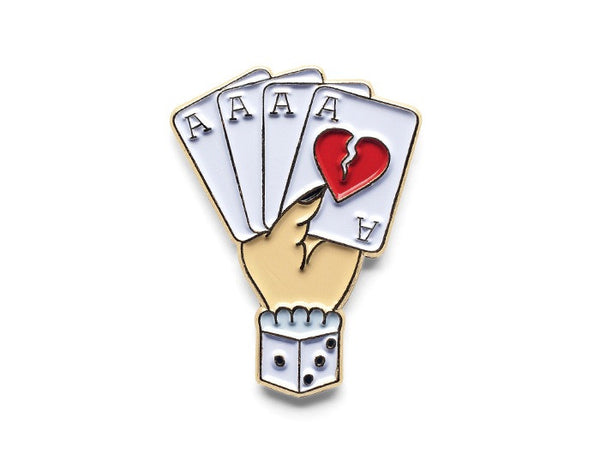 Tom Grunwald - Bad Suit Lapel Pin - White