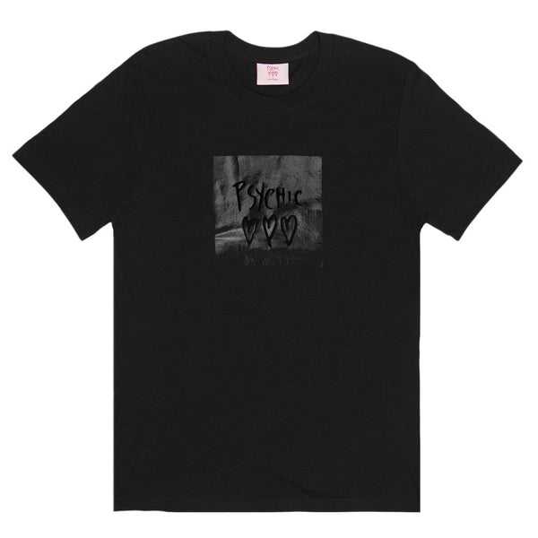 Psychic Hearts - Black Metallic Tee - Black
