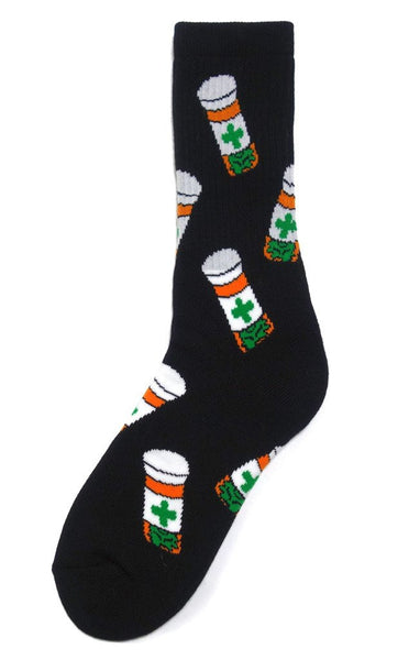 40s & Shorties - Cannabis Club Socks - Black