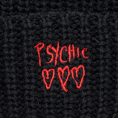 Psychic Hearts - Blixa Wool Beanie - Black/Red