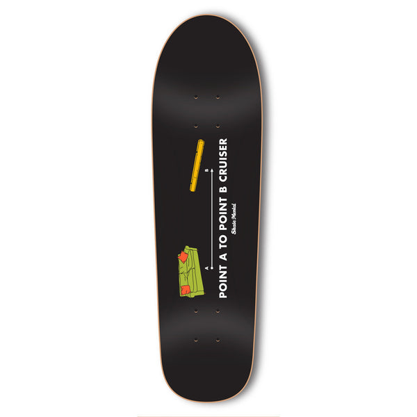 "Skate Mental - Point A to Point B Cruiser 8.5"" - Multi"