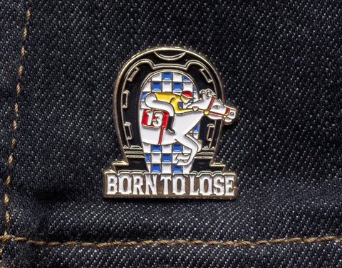 Tom Grunwald - Born to Lose Lapel Pin - White