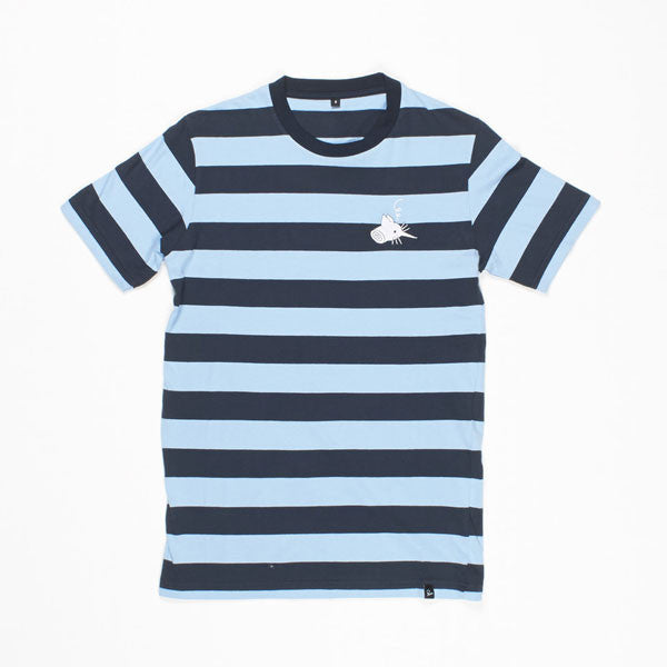 By Parra - Catface Striping T-shirt - Blue
