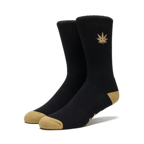 HUF - Cmon Leaf Plantlife Crew Sock - Black