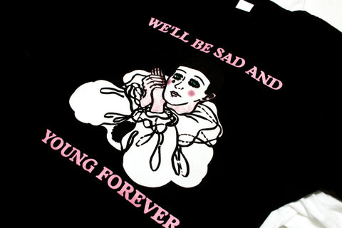 Psychic Hearts - Sad and Young T-shirt - Black