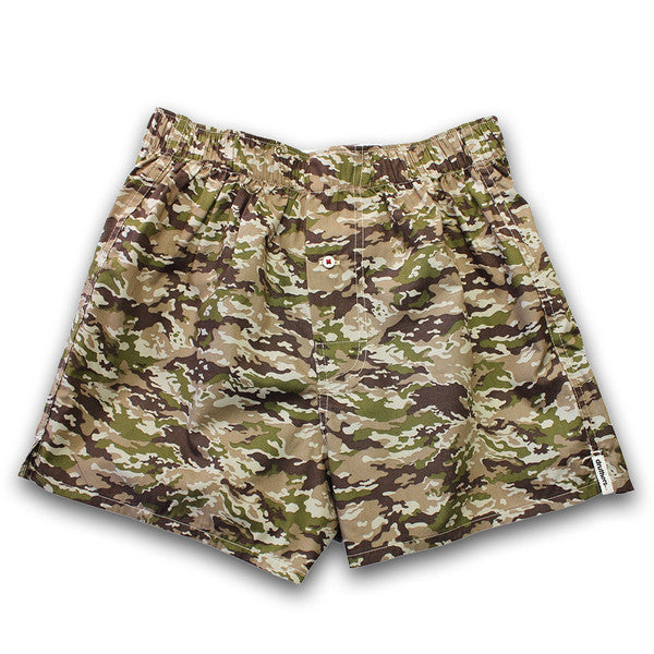 Druthers - Camo Boxer Shorts - Tan