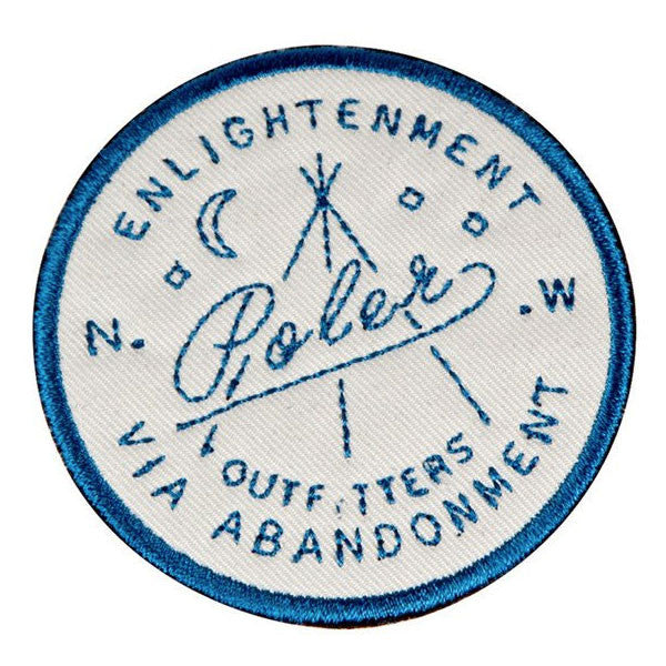 Poler - Enlightenment Iron On Patch - Grey