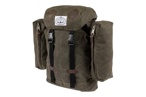 Poler - Classic Cotton Canvas Rucksack - Waxed Burnt Olive