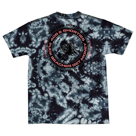 40s & Shorties - F Beaches Tee - Black Tie Dye