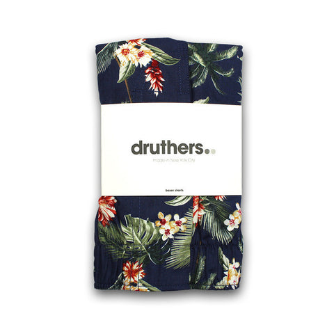 Druthers - Hawaiian Boxer Shorts - Navy