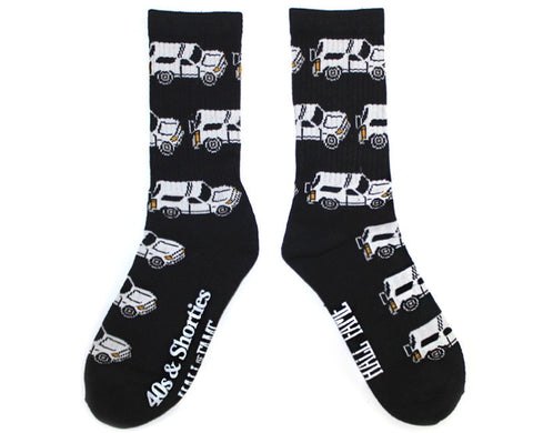40s & Shorties - 40s X Hall of Fame Bronco Sock - Black