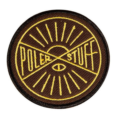 Poler - Hemisphere Iron On Patch - Brown