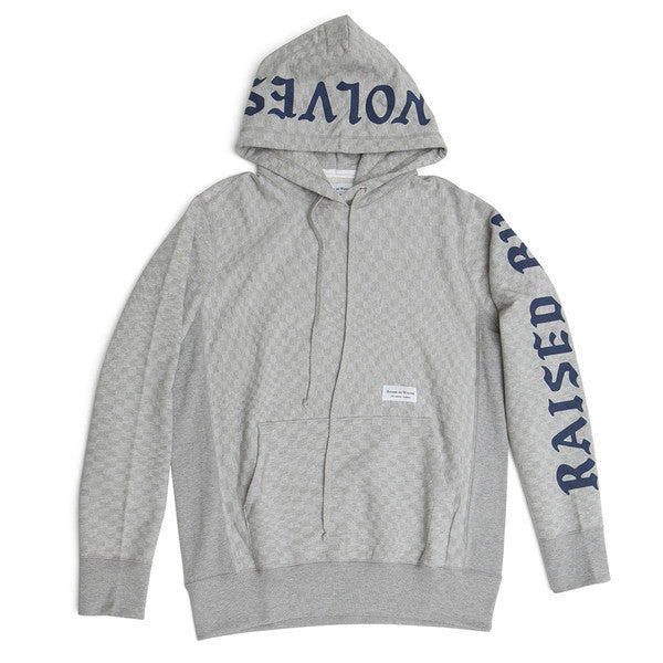 Raised by Wolves - Warped Checkerboard Hoodie - Heather Grey