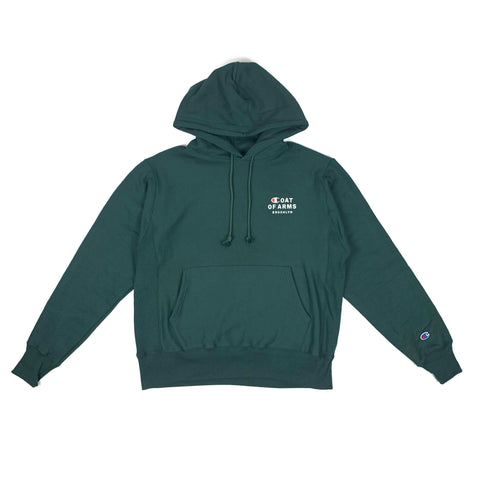 COA Brooklyn - COA Champion Reverse Weave Hoodie - Dark Green
