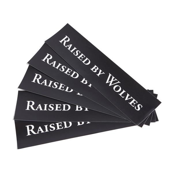 Raised by Wolves - Logotype Stickers - Black Vinyl