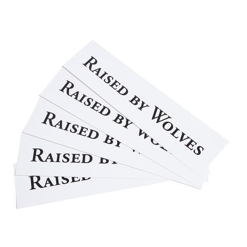 Raised by Wolves - Logotype Stickers - White Vinyl
