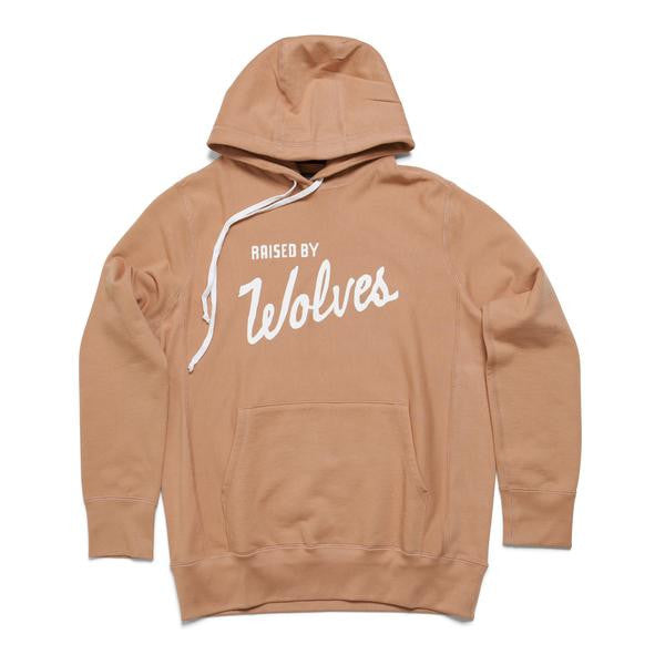 Raised by Wolves - Varsity Hooded Sweatshirt - Tan