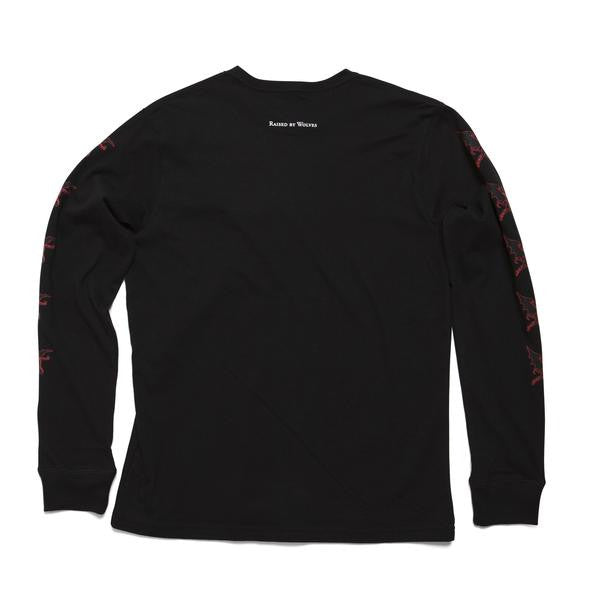 Raised by Wolves - Creature L/S Tee - Black