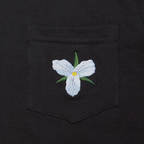 Raised by Wolves - Trillium Pocket Tee - Black
