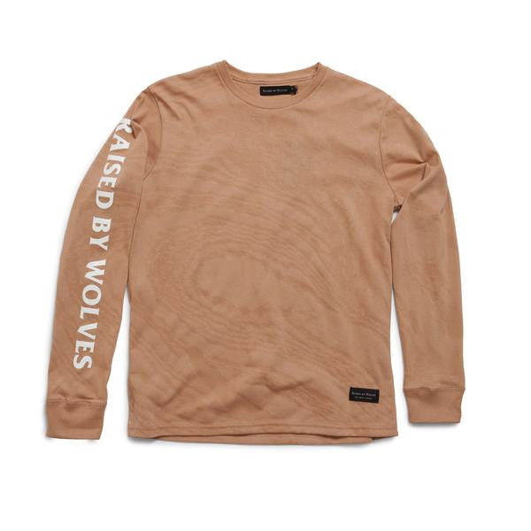 Raised by Wolves - Damascus Long Sleeve Tee - Tan