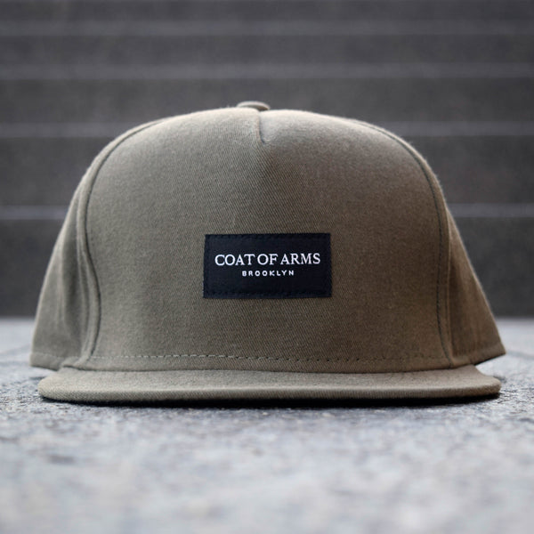 COA Brooklyn - Woven Label 5 Panel Cap - Olive