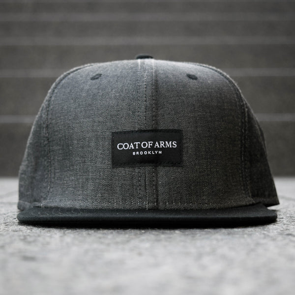 COA Brooklyn - Woven Label 6 Panel Cap - Black Chambray