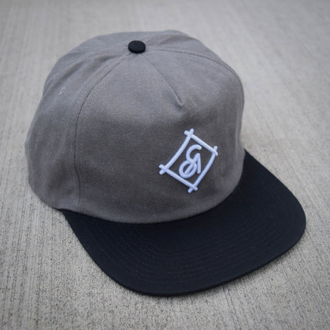 COA Brooklyn - Diamond Unstructured Cap - Grey/Black