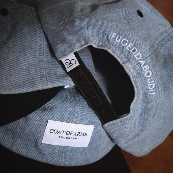 COA Brooklyn - Woven Label Unstructured Cap - Blue Denim