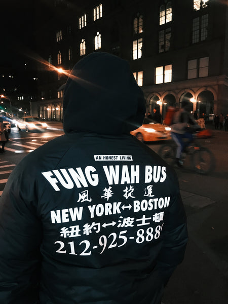 COA x An Honest Living - Fung Wah Coaches Jacket - Black
