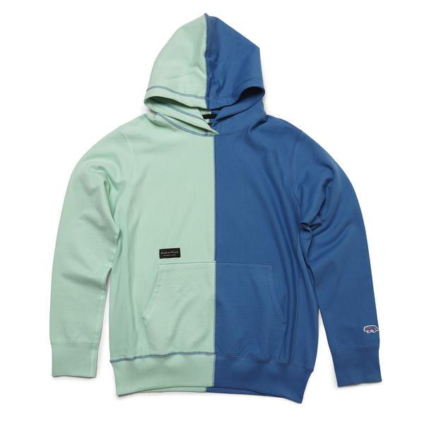 Raised by Wolves - Vert Hooded Sweatshirt - Mint Blue/Indigo