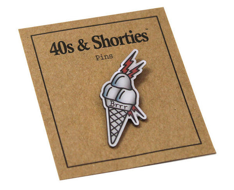 40s & Shorties - So Icey Pin - White