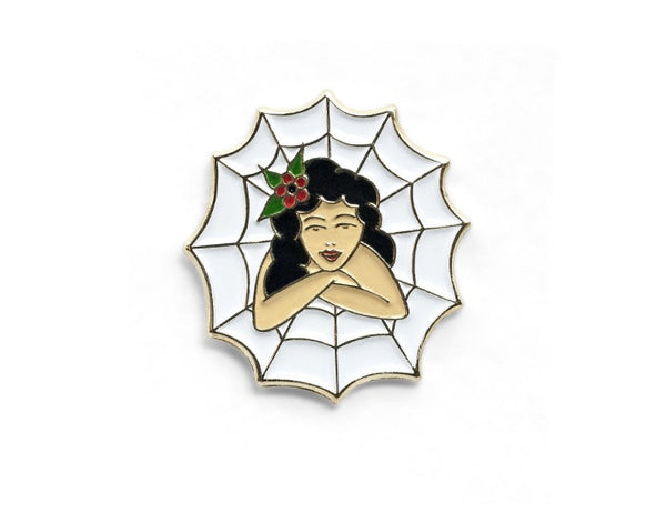 Tom Grunwald - Maneater Lapel Pin - White
