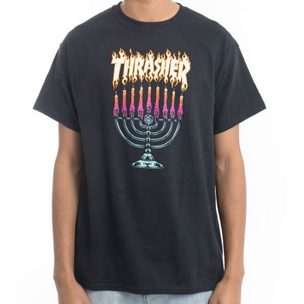 Thrasher - Menorah Tee - Black