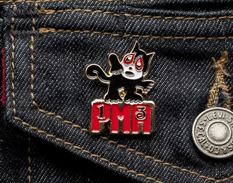 Tom Grunwald - PMA Lapel Pin - Black/Red