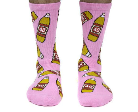 40s & Shorties - 40s Bottles Sock - Pink