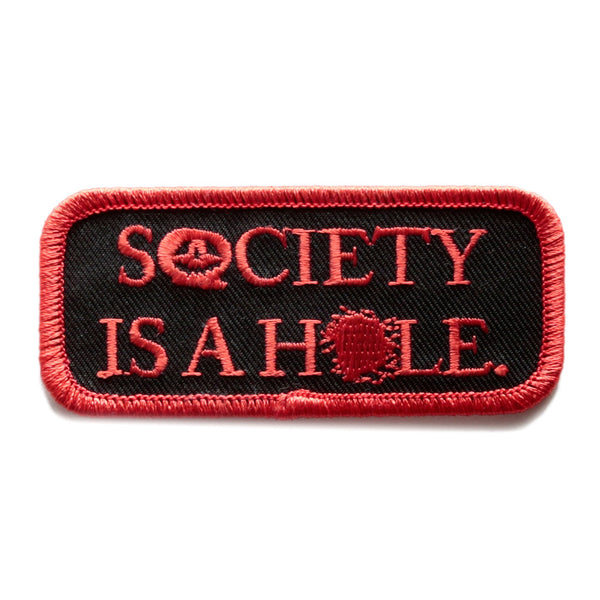Psychic Hearts - Society is a Hole Patch - Black
