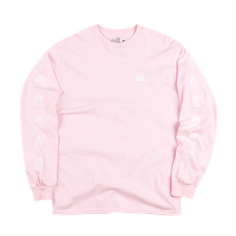The Quiet Life - Smoking Girl L/S T-Shirt - Pink