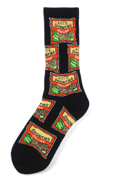 40s & Shorties - Ramen Socks - Black